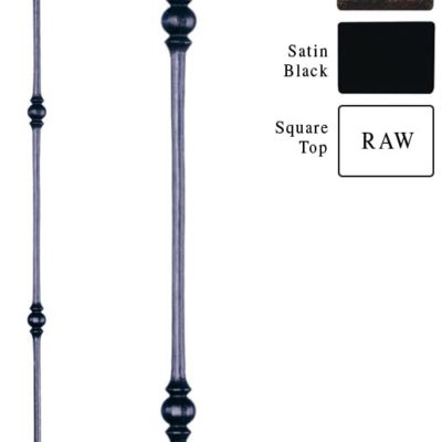 Double Sphere Iron Baluster