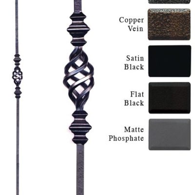 Double Knuckle Iron Baluster with basket