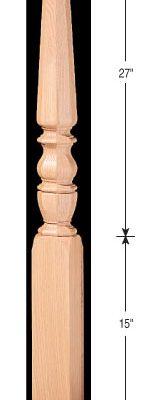 """3-1/2"""" Octagonal Pin Top Newels"""