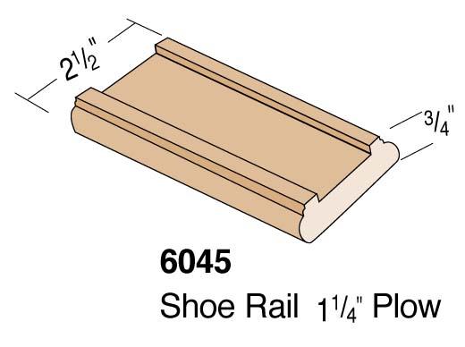 """2-1/2"""" 1-1/4 Plowed Shoerail"""