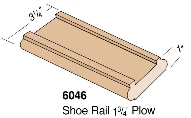 """3-1/4"""" 1-3/4 Plowed Shoerail"""