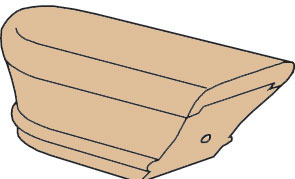 7709 End Cap Wood Stair Fitting For 6701 Handrail