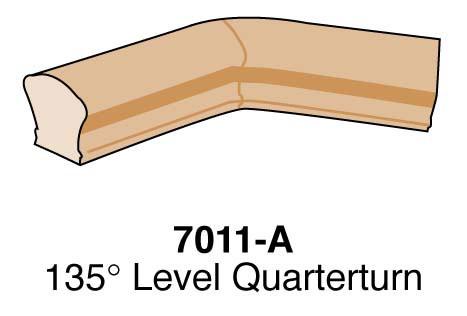 Level 135-Degree Quarterturn Stair Fitting