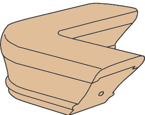 Level Quarterturn Wood Stair Fitting For 6701 Rail