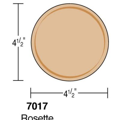 """4-1/2"""" Round Rosette"""