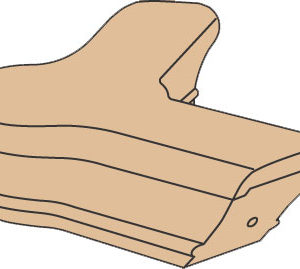135 Degree Quarterturn With Cap For 6701 Stair Handrail