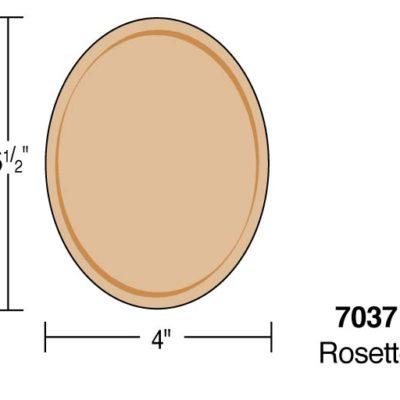 """5-1/2"""" Oval Rosette"""