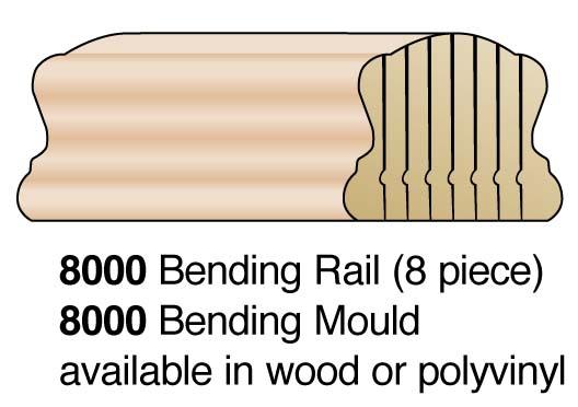 """2-1/4"""" 8-Pc Bending Handrail"""