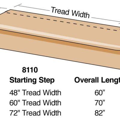 Wood Single Radius Tread