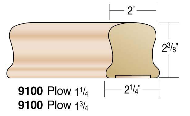 "2"" Plowed Handrail"